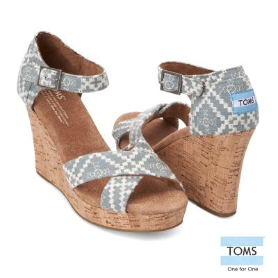TOMS-綁帶高跟涼鞋-女款-灰