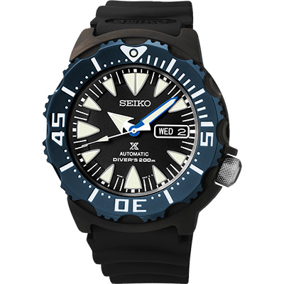 SEIKO Prospex 海龍潛水200米機械腕錶-黑/42mm