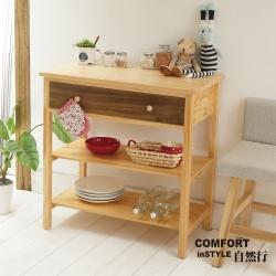 CiS自然行實木家具 電器櫃-碗盤櫃-雜貨櫃-置物櫃W80cm(原木胡桃色)