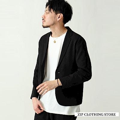 泡泡紗休閒西裝外套(3色) ZIP日本男裝