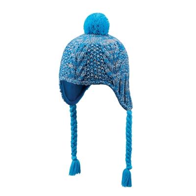 【ATUNAS 歐都納】輕盈羊毛針織保暖覆耳毛帽 A-A1744 藍