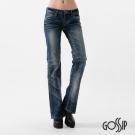Gossip 低腰緊身喇叭褲-中藍-女