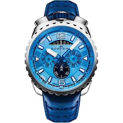 BOMBERG 炸彈錶 BOLT-68 冰川藍洞計時手錶-/45mm