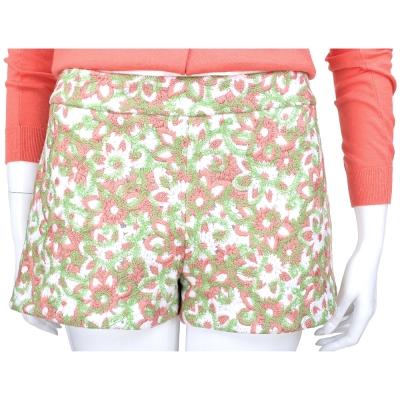 MOSCHINO 粉紅/綠色織花設計短褲