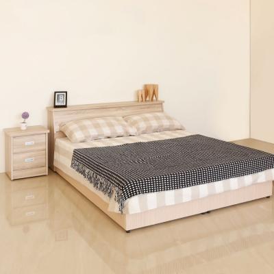 居家生活-威妮妮5尺橡木紋色雙人臥室四件組-床頭箱