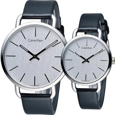 Calvin Klein even系列情繫永恆對錶(K7B211C6 K7B231C6)白