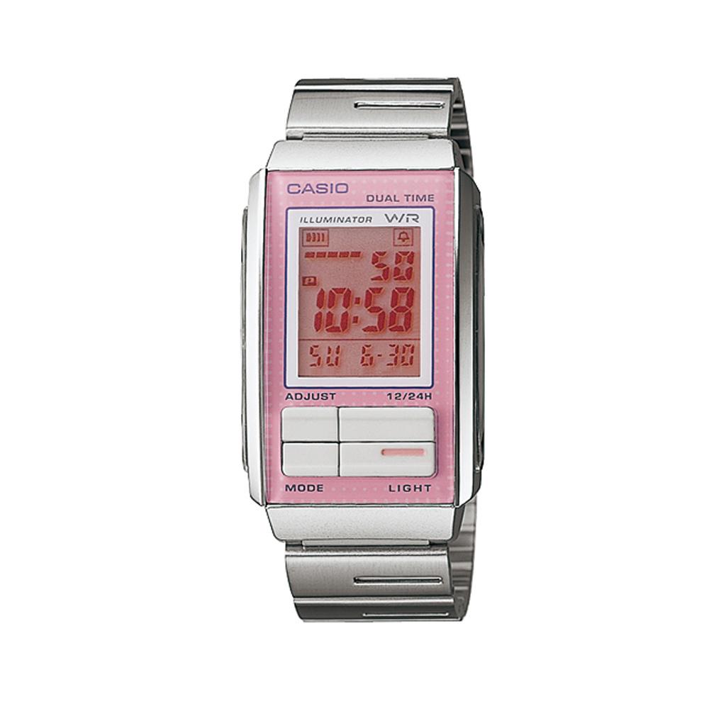 CASIO最新炫彩精靈數位腕錶LA-201W-4A3-粉紅26.2mm