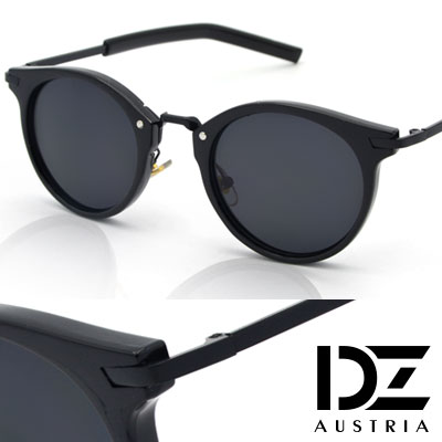 DZ 夏日風采 抗UV太陽眼鏡 墨鏡(黑框灰片)