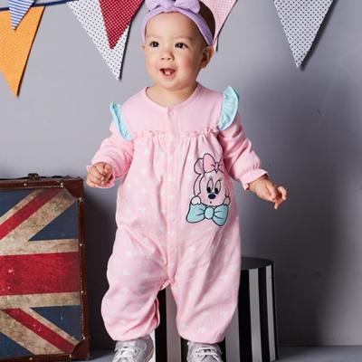 Disney Baby 米妮系列荷葉甜心妙妙裝 淺粉