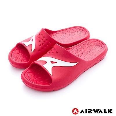 美國AIRWALK - 舒適柔軟輕盈AirJump拖鞋-紅色