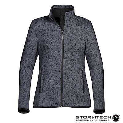 【加拿大STORMTECH】PMJ-1W立領針織刷毛保暖外套-女-深藍