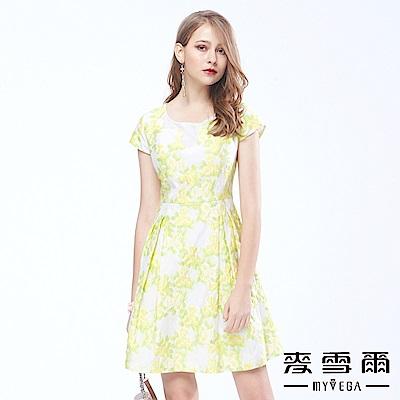 麥雪爾 韓自然叢林立體繡花顯瘦洋裝