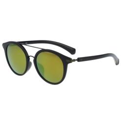 Calvin Klein- 時尚復古造型太陽眼鏡(黑色+反光鏡面)