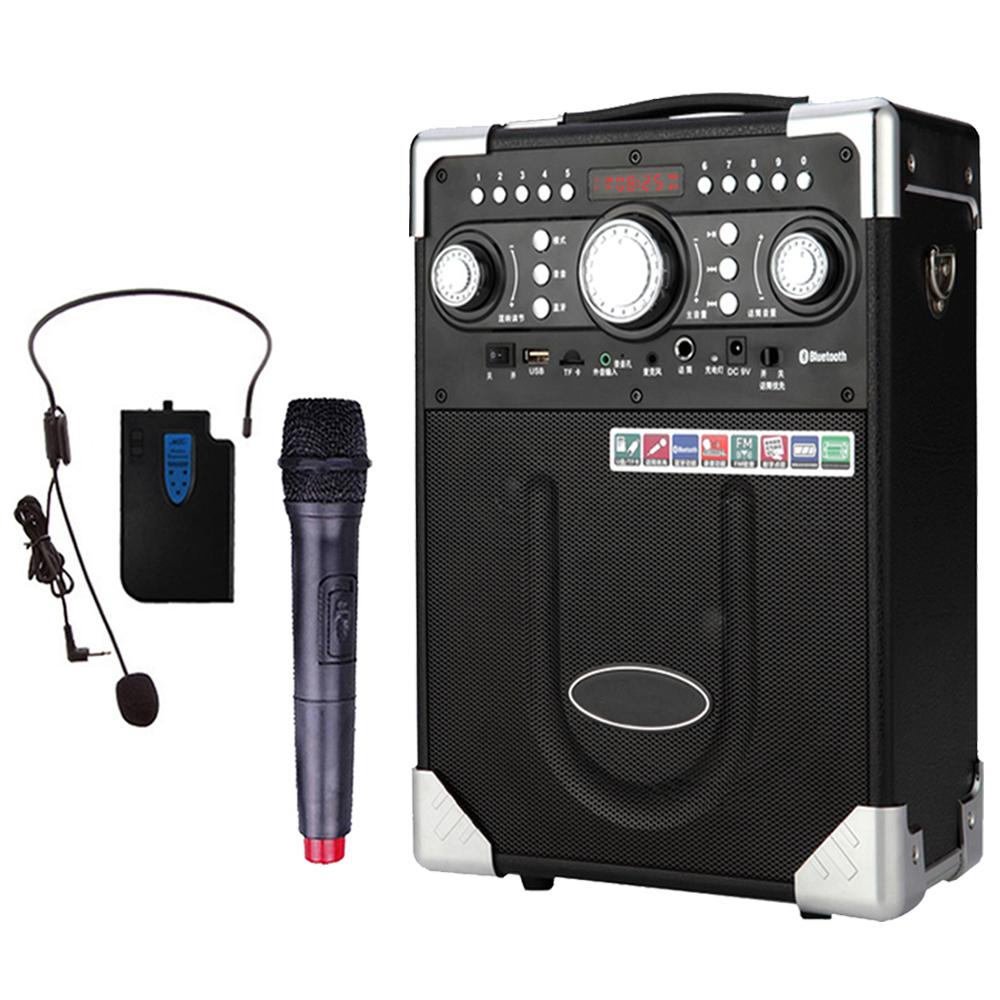大聲公典雅型無線麥克風多功能行動音箱/喇叭 (耳掛+話筒組)