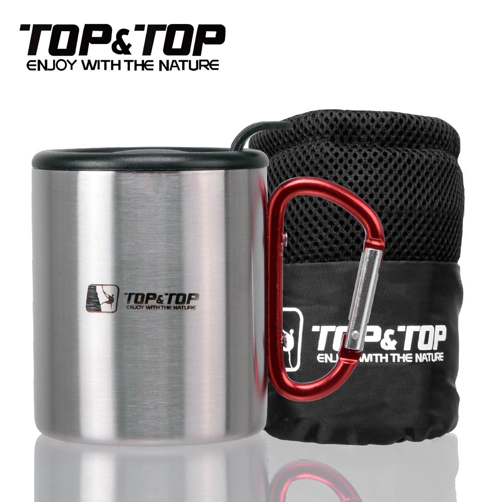 韓國TOP&TOP 不鏽鋼雙層斷熱杯附杯蓋