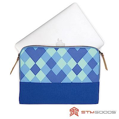 澳洲 STM Grace Sleeve 15吋時尚菱格紋筆電袋 - 藍