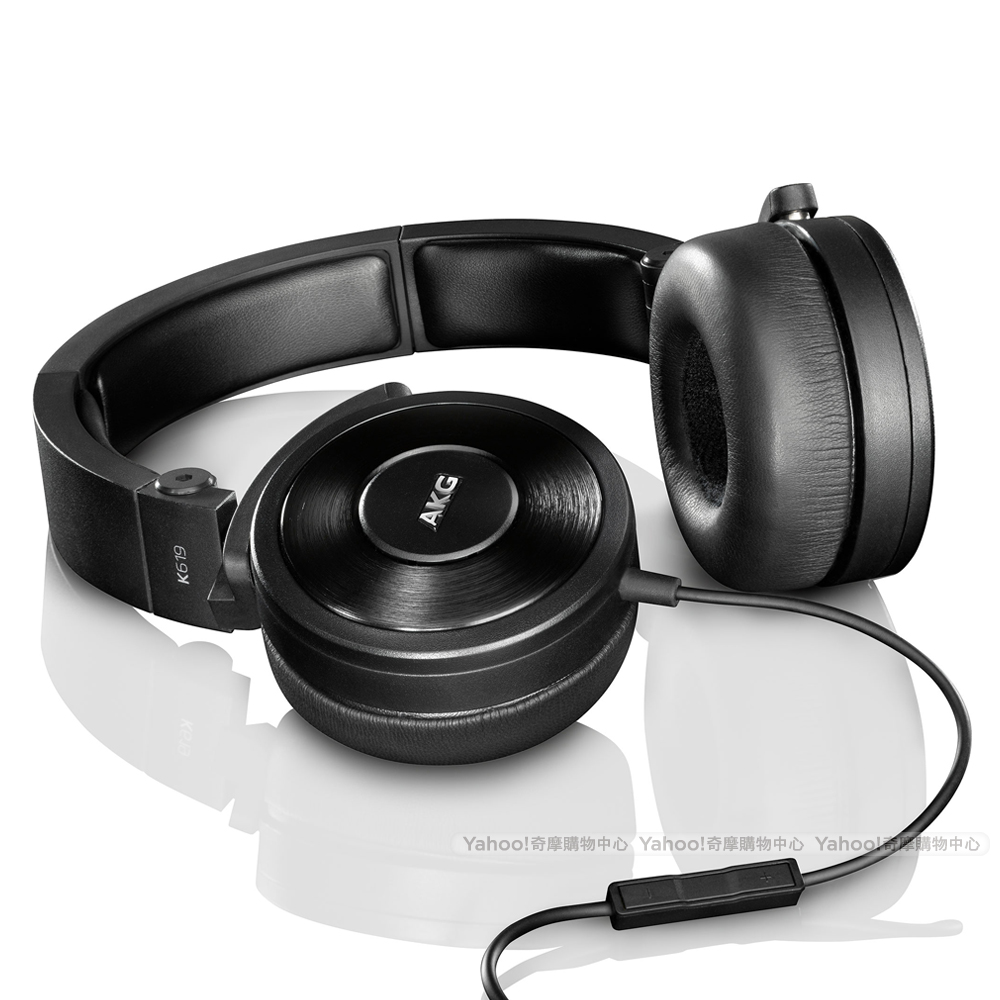 AKG K619 iPhone專用頭戴式耳機-黑