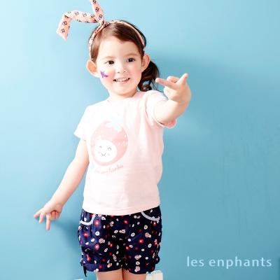 麗嬰房 les enphants baby 活潑點點短褲 丈青色