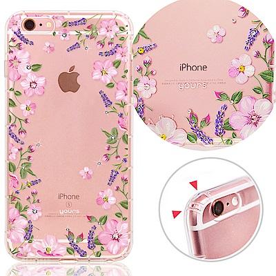 YOURS APPLE iPhone 6s Plus 奧地利彩鑽防摔手機殼-花樂...