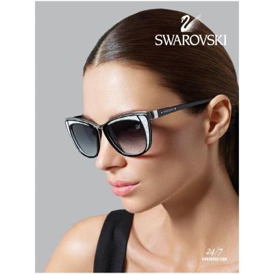 SWAROVSKI 時尚廣告款 太陽眼鏡(白色)
