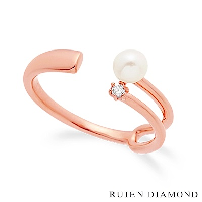 RUIEN DIAMOND 韓國輕珠寶 飾品 配件14K玫瑰金 戒指 JR7378