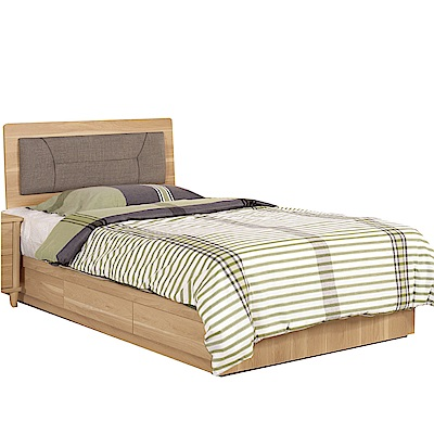 品家居  瑪安3.5尺單人床片床台組合(不含床墊)-106x198x90.5cm免組
