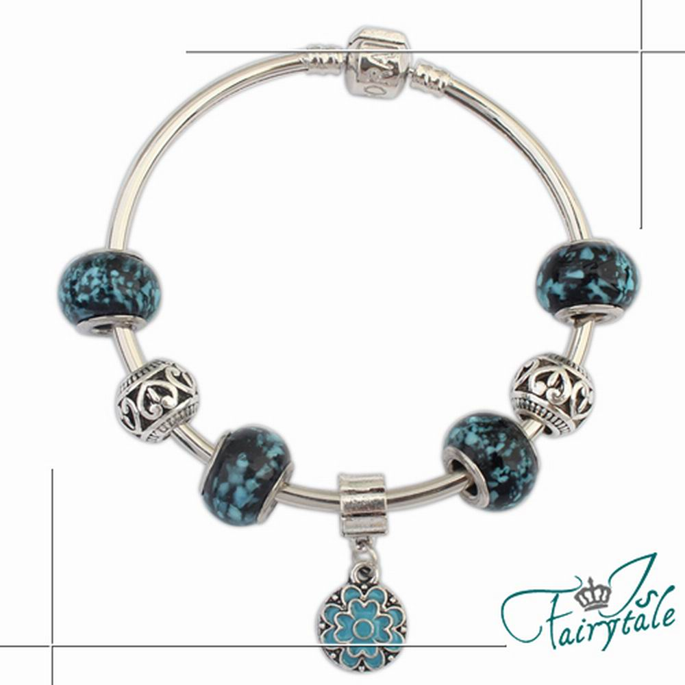 iSFairytale伊飾童話 海洋琥珀 潘朵拉串珠手環