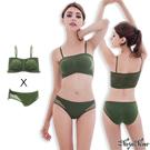運動BRA內衣 無鋼圈 感動無縫透氣內衣內褲組S-XL(軍綠) Naya Nina