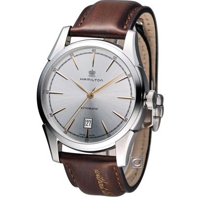 Hamilton 漢米爾頓America Classic 自由精神機械錶-銀/42mm