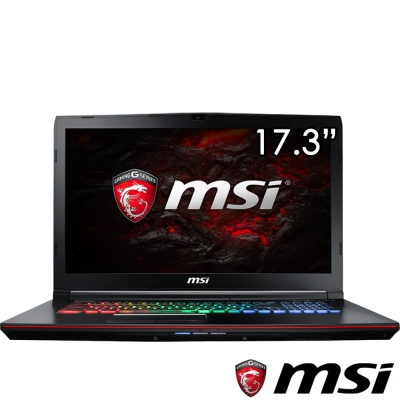 MSI微星 GE72MVR-003 17吋電競筆電(i7-7700/GTX1070/256 1T