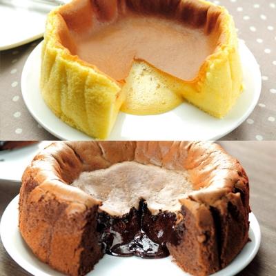 御見凹蛋糕7吋 原味蜂蜜+巧克力 7吋
