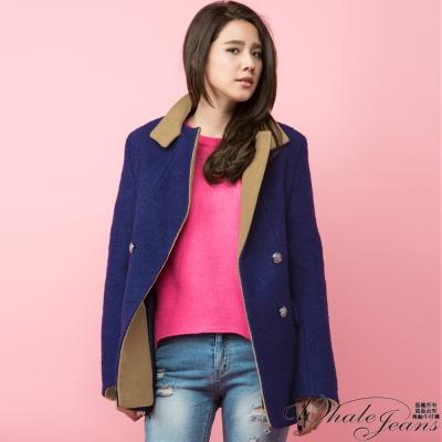WHALE JEANS 韓國首爾熱銷氣質毛呢大衣外套Korea製