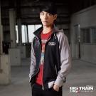 BIG TRAIN 配色棒球外套-男-黑色