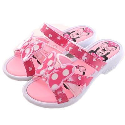 迪士尼米妮 淑女款女童涼拖鞋 粉 sk0070 魔法Baby