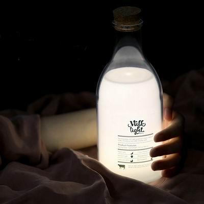 iSFun 留言牛奶瓶 USB定時充電療癒情境夜燈