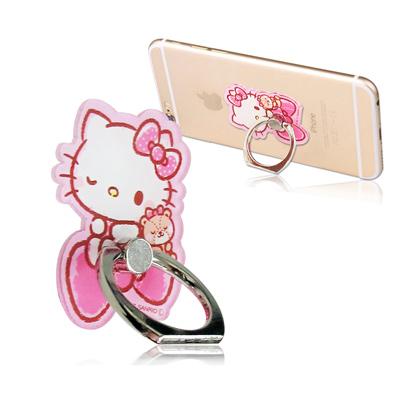 三麗鷗授權 Hello Kitty 凱蒂貓手機防摔造型指環扣 手機支架(眨眼)