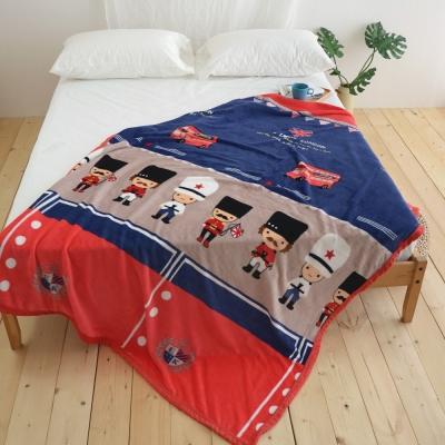 絲薇諾 英國大頭兵 145×200cm法蘭絨毯包邊四季毯