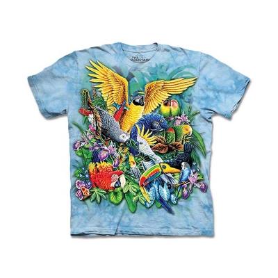 摩達客 美國進口The Mountain熱帶鳥群純棉短袖T恤