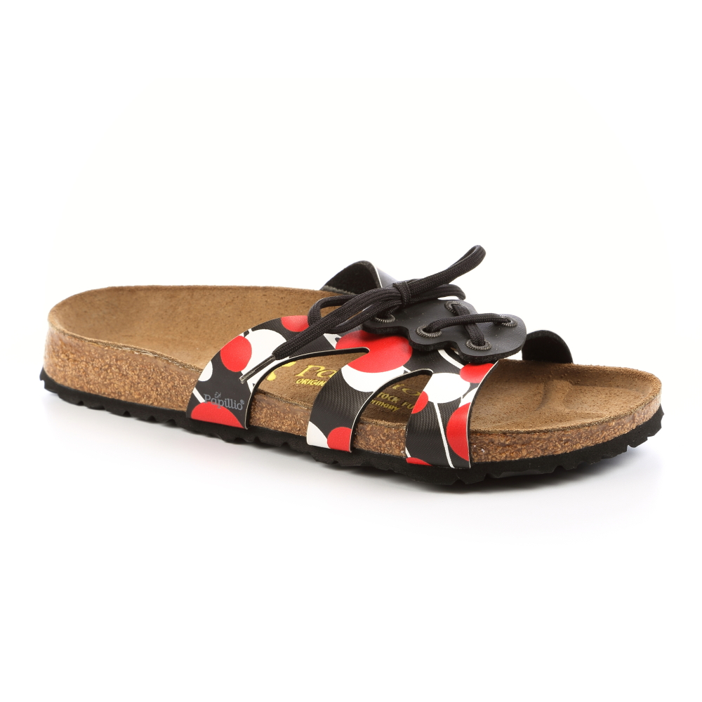 勃肯Papillio 379083。CANNES 綁帶涼鞋(圓點)