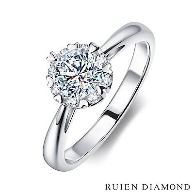 RUIEN DIAMOND GIA50分 DVVS2 3EX 18K白金 鑽石戒指
