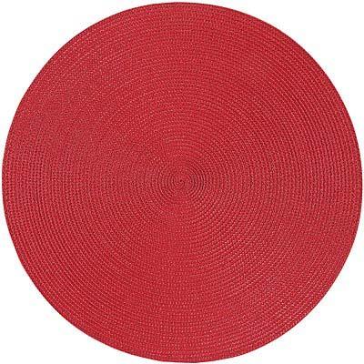 NOW 素面織紋圓餐墊(赭紅)
