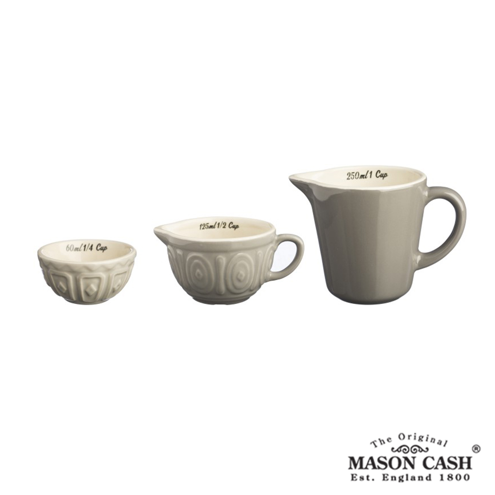 MASON BAKER LANE系列陶瓷量杯3件組(淺咖啡)