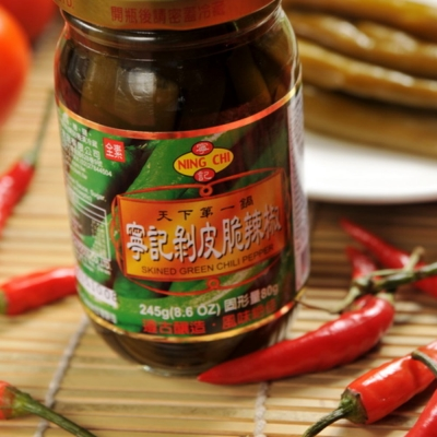 花蓮特產 剝皮脆辣椒/450gx5瓶