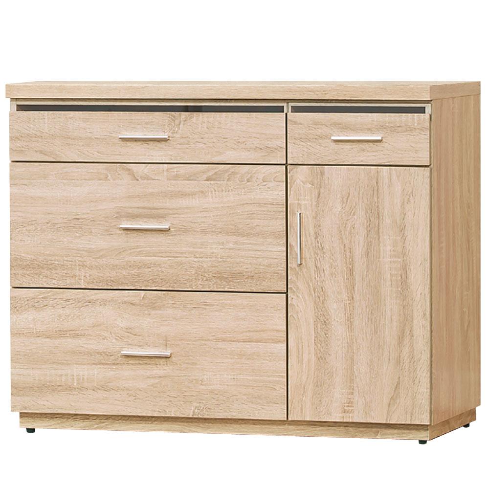 品家居 安德烈3.5尺收納餐櫃下座-103.5x45.9x84.6cm-免組