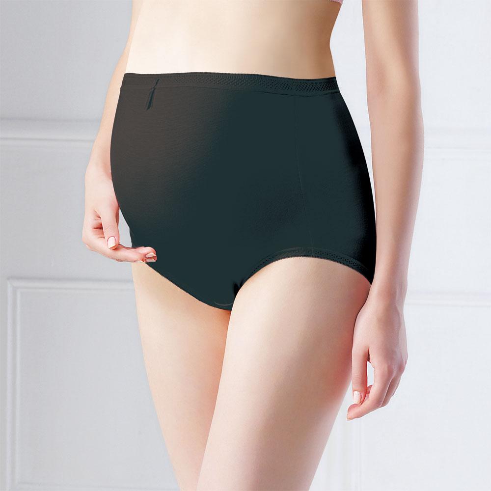六甲村‧沈穩黑高彈性孕婦褲/XL(2件組)