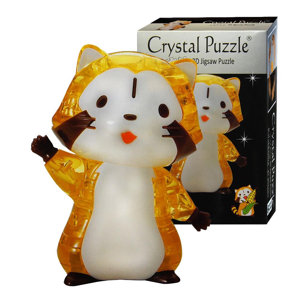 小浣熊3D水晶拼圖-(8cm系列-48片)