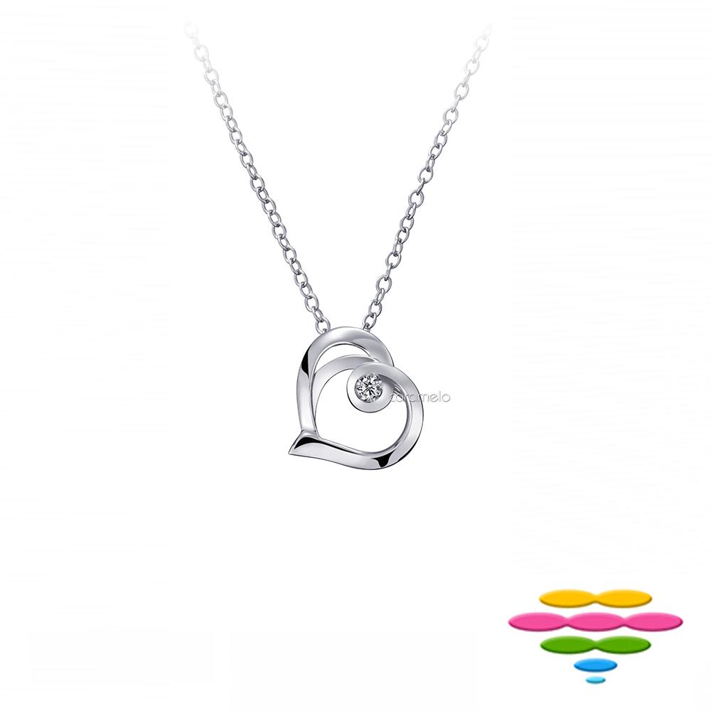 彩糖鑽工坊 14K 愛心鑽石項鍊 情有獨鍾系列