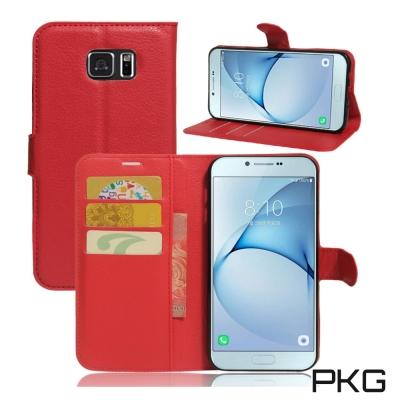 PKG 三星Note5 側翻式皮套-經典皮套系列-紅
