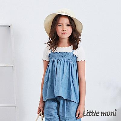 Little moni 輕薄水洗丹寧上衣 (2色可選)