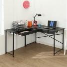 BuyJM經典仿馬鞍皮面L型雙抽屜工作桌/電腦桌120x140x75公分